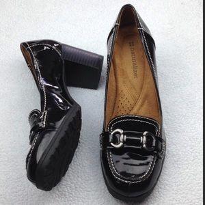 Naturalizer black patent shoes